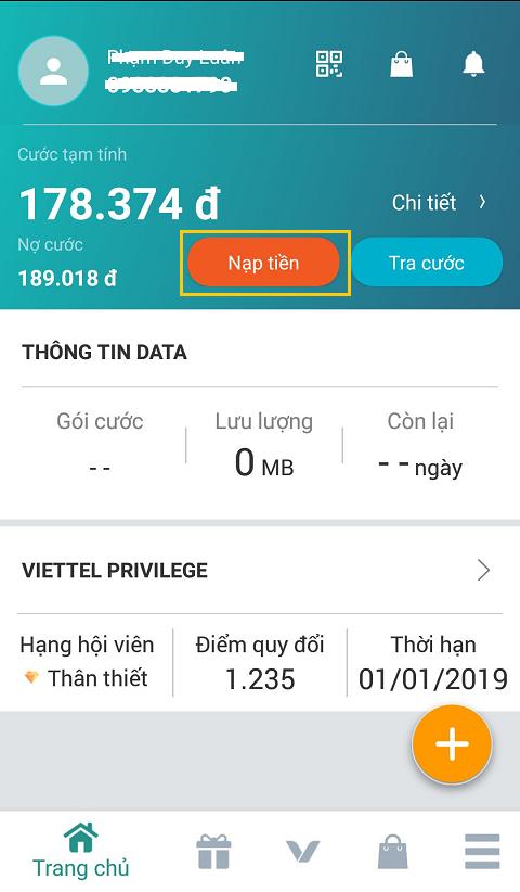 Note: Tài khoản Viettel ADSL/FTTH cho thanh toán online