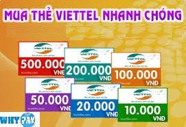 Đại lý thẻ cào điện thoại Viettel