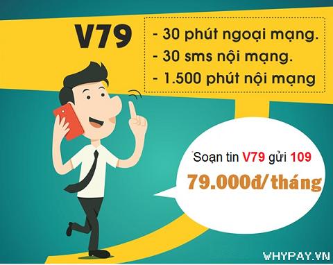 Đăng ký gói cước V79 của Viettel với chỉ 79.000đ/tháng