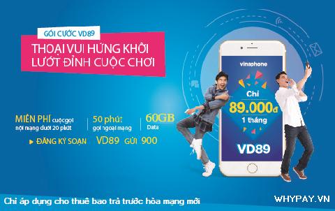 Hướng dẫn đăng ký gói cước VD89 của Vinaphone