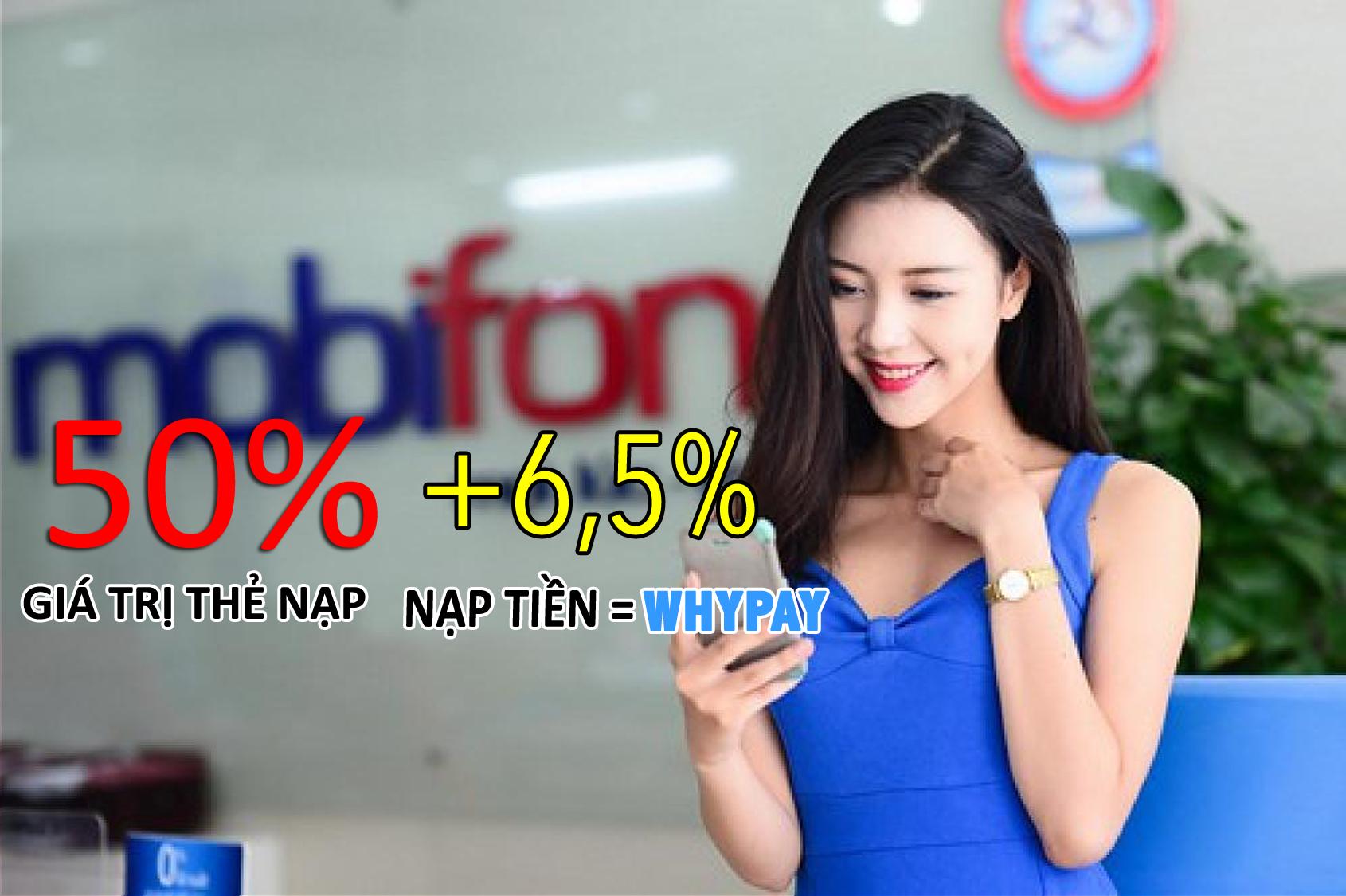 Mobifone khuyến mại 50% thẻ nạp ngày 18/10/2016 cho các thuê bao nhận được  tin nhắn.